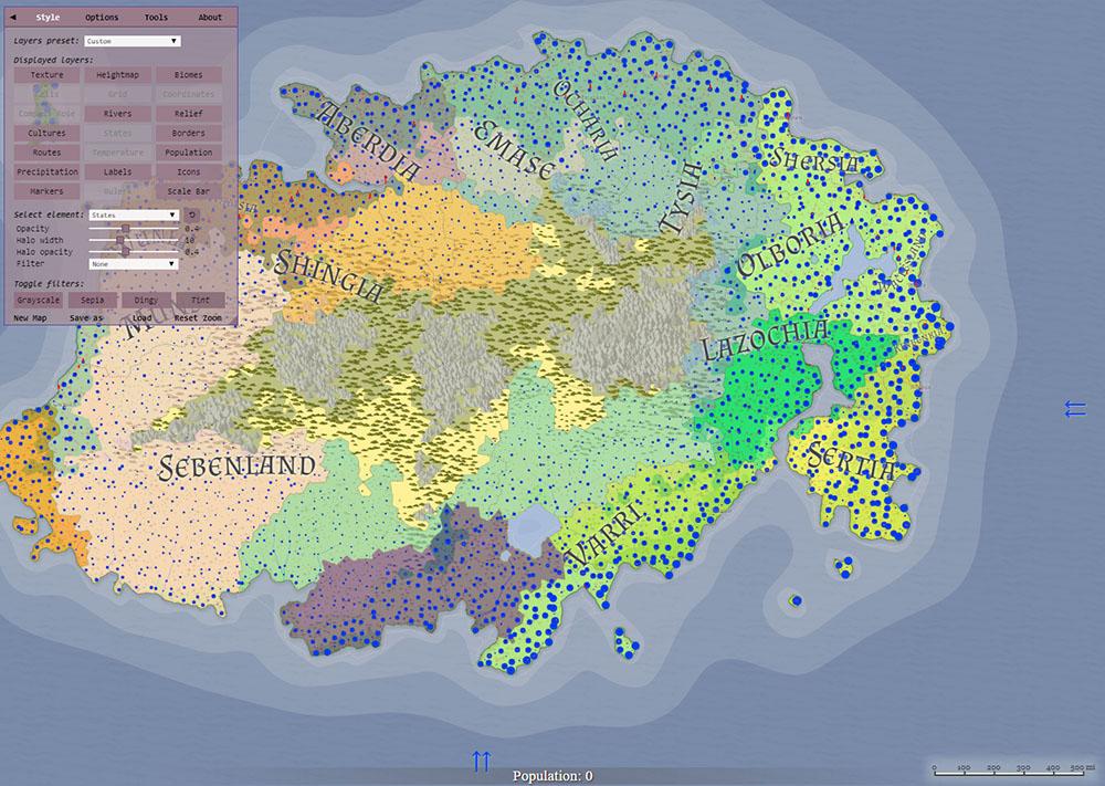 azgaar fantasy world map